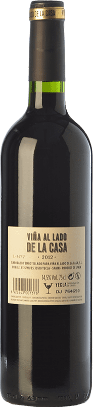 17,95 € Free Shipping | Red wine Castaño Viña al Lado de la Casa Crianza D.O. Yecla Region of Murcia Spain Syrah, Cabernet Sauvignon, Monastrell, Grenache Tintorera Bottle 75 cl