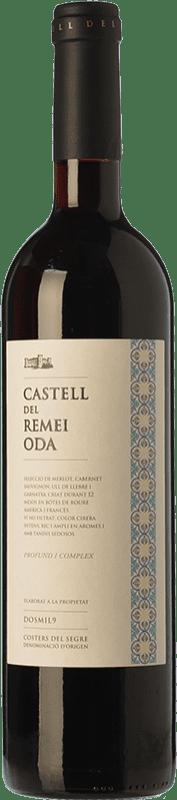 26,95 € Envío gratis | Vino tinto Castell del Remei Oda Crianza D.O. Costers del Segre Cataluña España Tempranillo, Merlot, Syrah, Cabernet Sauvignon Botella Mágnum 1,5 L