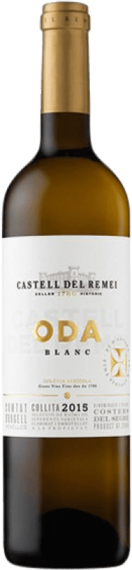 9,95 € Envío gratis | Vino blanco Castell del Remei Oda Blanc Crianza D.O. Costers del Segre Cataluña España Macabeo, Chardonnay Botella 75 cl