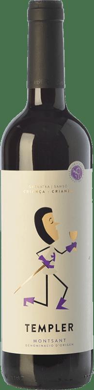 11,95 € 免费送货 | 红酒 Castell d'Or Templer Criança Crianza D.O. Montsant 加泰罗尼亚 西班牙 Grenache, Carignan 瓶子 75 cl