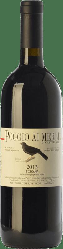 78,95 € Free Shipping | Red wine Castellare di Castellina Poggio ai Merli I.G.T. Toscana Tuscany Italy Merlot Bottle 75 cl