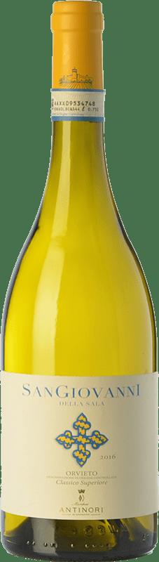 22,95 € Free Shipping | White wine Castello della Sala San Giovanni D.O.C. Orvieto Umbria Italy Viognier, Pinot White, Procanico, Grechetto Bottle 75 cl