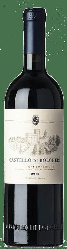 69,95 € Free Shipping | Red wine Castello di Bolgheri D.O.C. Bolgheri Tuscany Italy Merlot, Cabernet Sauvignon, Cabernet Franc Bottle 75 cl