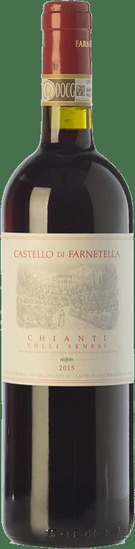 9,95 € Envío gratis | Vino tinto Castello di Farnetella Colli Senesi D.O.C.G. Chianti Toscana Italia Merlot, Sangiovese Botella 75 cl