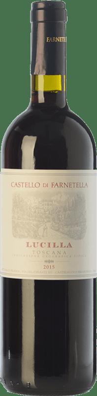 9,95 € Envío gratis | Vino tinto Castello di Farnetella Lucilla I.G.T. Toscana Toscana Italia Merlot, Cabernet Sauvignon, Sangiovese Botella 75 cl