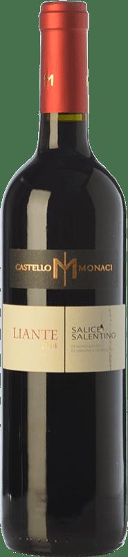 9,95 € Free Shipping | Red wine Castello Monaci Liante D.O.C. Salice Salentino Puglia Italy Malvasia Black, Negroamaro Bottle 75 cl