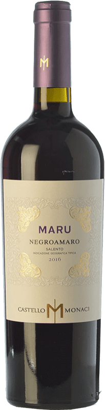 9,95 € Free Shipping | Red wine Castello Monaci Maru I.G.T. Salento Campania Italy Negroamaro Bottle 75 cl