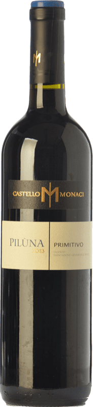 11,95 € Free Shipping | Red wine Castello Monaci Piluna I.G.T. Salento Campania Italy Primitivo Bottle 75 cl