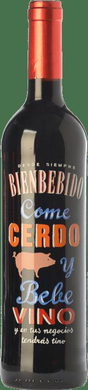 7,95 € Free Shipping | Red wine Castillo de Maetierra Come Cerdo y Bebe Vino Reserva I.G.P. Vino de la Tierra Valles de Sadacia The Rioja Spain Tempranillo, Grenache Bottle 75 cl