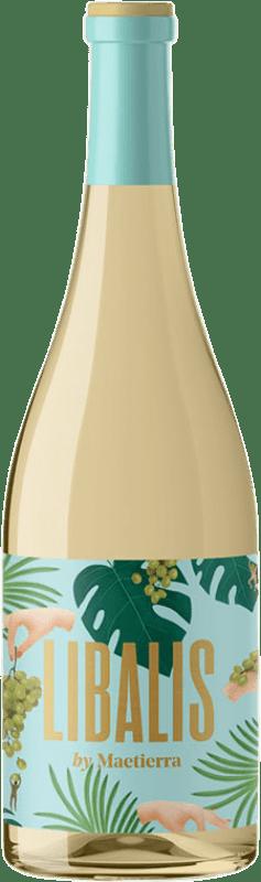6,95 € Free Shipping | White wine Castillo de Maetierra Libalis Muscat I.G.P. Vino de la Tierra Valles de Sadacia The Rioja Spain Viura, Malvasía, Muscatel Small Grain Bottle 75 cl