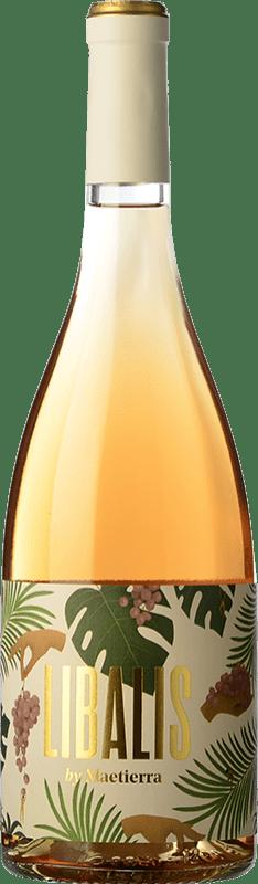 9,95 € Free Shipping | Rosé wine Castillo de Maetierra Libalis Rosé Joven I.G.P. Vino de la Tierra Valles de Sadacia The Rioja Spain Syrah, Muscatel Small Grain Bottle 75 cl