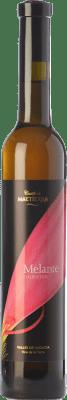 16,95 € Free Shipping | Sweet wine Castillo de Maetierra Melante Colección Crianza I.G.P. Vino de la Tierra Valles de Sadacia The Rioja Spain Muscatel Small Grain Half Bottle 50 cl
