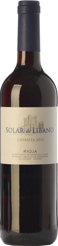 8,95 € Free Shipping | Red wine Castillo de Sajazarra Solar de Líbano Crianza D.O.Ca. Rioja The Rioja Spain Tempranillo, Grenache, Graciano Bottle 75 cl
