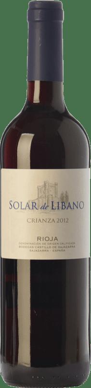 8,95 € Envío gratis | Vino tinto Castillo de Sajazarra Solar de Líbano Crianza D.O.Ca. Rioja La Rioja España Tempranillo, Garnacha, Graciano Botella 75 cl