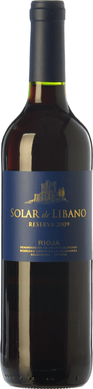 12,95 € Free Shipping | Red wine Castillo de Sajazarra Solar de Líbano Reserva D.O.Ca. Rioja The Rioja Spain Tempranillo, Grenache, Graciano Bottle 75 cl