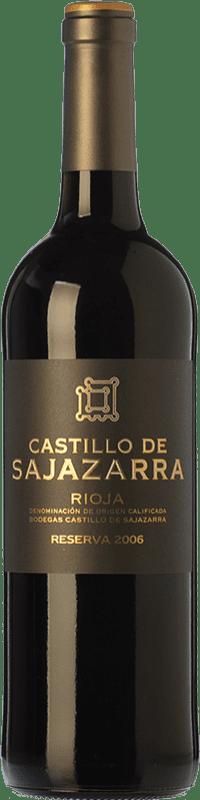 15,95 € Envío gratis | Vino tinto Castillo de Sajazarra Reserva D.O.Ca. Rioja La Rioja España Tempranillo, Garnacha, Graciano Botella 75 cl