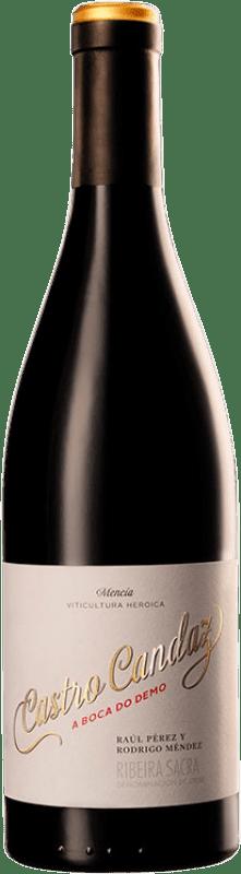 32,95 € 免费送货 | 红酒 Castro Candaz A Boca do Demo Crianza D.O. Ribeira Sacra 加利西亚 西班牙 Mencía 瓶子 75 cl