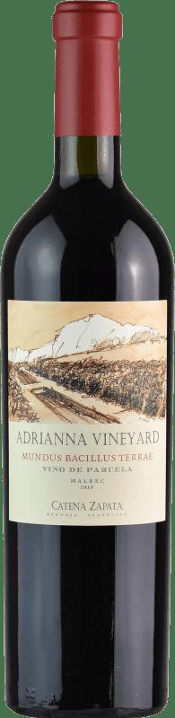 242,95 € | Red wine Catena Zapata Adrianna Vineyard Mundus Bacillus Terrae Crianza I.G. Mendoza Mendoza Argentina Malbec, Viognier Bottle 75 cl