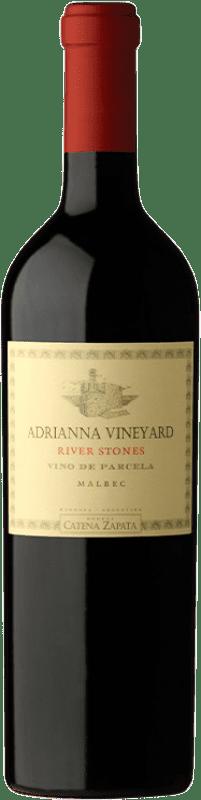 279,95 € 免费送货 | 红酒 Catena Zapata Adrianna Vineyard River Stones Crianza I.G. Mendoza 门多萨 阿根廷 Malbec 瓶子 75 cl