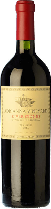 279,95 € Free Shipping | Red wine Catena Zapata Adrianna Vineyard River Stones Crianza I.G. Mendoza Mendoza Argentina Malbec Bottle 75 cl