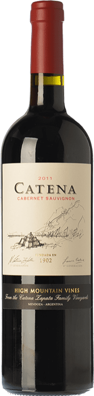 18,95 € 免费送货 | 红酒 Catena Zapata Crianza I.G. Mendoza 门多萨 阿根廷 Cabernet Sauvignon 瓶子 75 cl