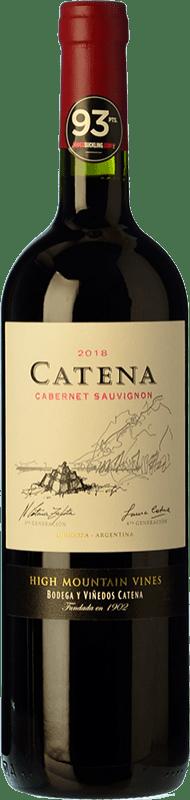 18,95 € Envío gratis | Vino tinto Catena Zapata Crianza I.G. Mendoza Mendoza Argentina Cabernet Sauvignon Botella 75 cl