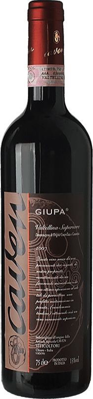 32,95 € Free Shipping | Red wine Caven Riserva Giupa Reserva D.O.C.G. Valtellina Superiore Lombardia Italy Nebbiolo Bottle 75 cl