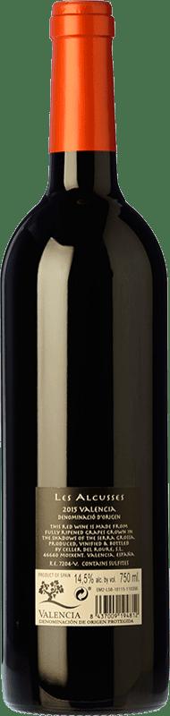12,95 € Free Shipping | Red wine Roure Les Alcusses Joven D.O. Valencia Valencian Community Spain Tempranillo, Merlot, Syrah, Cabernet Sauvignon, Monastrell Bottle 75 cl