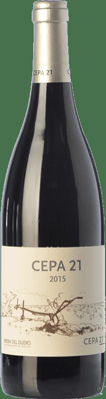 18,95 € 免费送货 | 红酒 Cepa 21 Crianza D.O. Ribera del Duero 卡斯蒂利亚莱昂 西班牙 Tempranillo 瓶子 75 cl