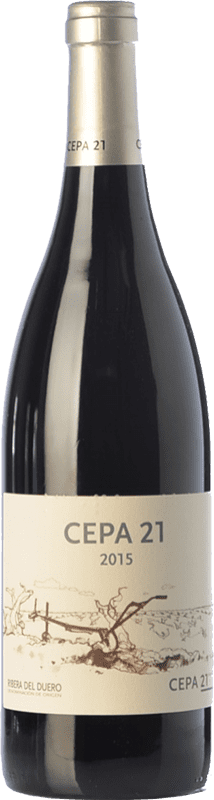 18,95 € Envío gratis | Vino tinto Cepa 21 Crianza D.O. Ribera del Duero Castilla y León España Tempranillo Botella 75 cl