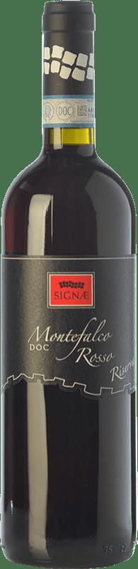 16,95 € Free Shipping | Red wine Cesarini Sartori Signae Rosso Riserva Reserva D.O.C. Montefalco Umbria Italy Merlot, Cabernet Sauvignon, Sangiovese, Sagrantino Bottle 75 cl