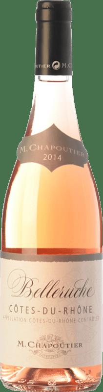 14,95 € Free Shipping | Rosé wine Chapoutier Belleruche Rosé I.G.P. Vin de Pays Rhône Rhône France Syrah, Grenache, Cinsault Bottle 75 cl