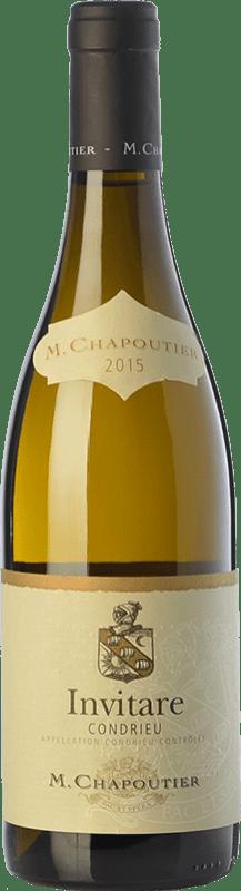 55,95 € Free Shipping | White wine Chapoutier Invitare Crianza A.O.C. Condrieu Rhône France Viognier Bottle 75 cl