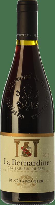 53,95 € Free Shipping | Red wine Chapoutier La Bernardine Rouge Crianza A.O.C. Châteauneuf-du-Pape Rhône France Syrah, Grenache, Mourvèdre Bottle 75 cl