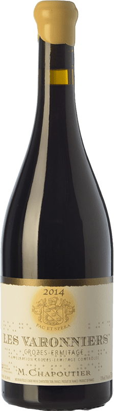 47,95 € | Red wine Chapoutier Varonniers Crianza A.O.C. Crozes-Hermitage Rhône France Syrah Bottle 75 cl