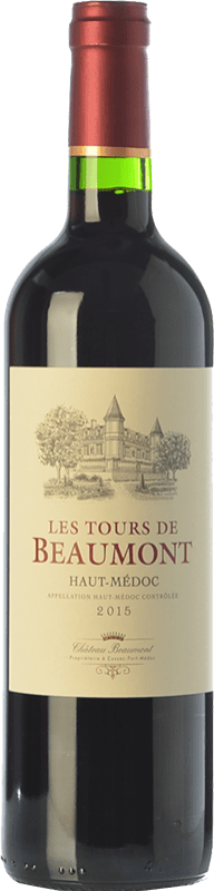 9,95 € | Red wine Château Beaumont Les Tours de Beaumont Crianza A.O.C. Haut-Médoc Bordeaux France Merlot, Cabernet Sauvignon, Cabernet Franc Bottle 75 cl