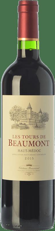 9,95 € Envío gratis | Vino tinto Château Beaumont Les Tours de Beaumont Crianza A.O.C. Haut-Médoc Burdeos Francia Merlot, Cabernet Sauvignon, Cabernet Franc Botella 75 cl