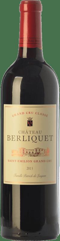59,95 € Free Shipping | Red wine Château Berliquet Crianza A.O.C. Saint-Émilion Grand Cru Bordeaux France Merlot, Cabernet Sauvignon, Cabernet Franc Bottle 75 cl
