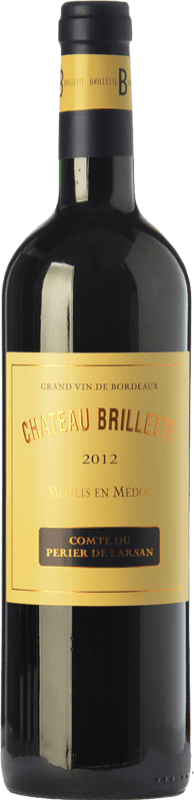 18,95 € Free Shipping | Red wine Château Brillette A.O.C. Moulis-en-Médoc Bordeaux France Merlot, Cabernet Sauvignon, Cabernet Franc, Petit Verdot Bottle 75 cl