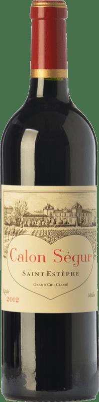 149,95 € Free Shipping | Red wine Château Calon Ségur Crianza A.O.C. Saint-Estèphe Bordeaux France Merlot, Cabernet Sauvignon, Petit Verdot Bottle 75 cl