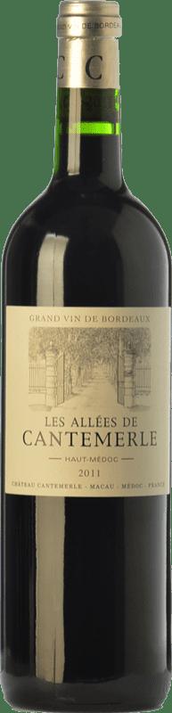 21,95 € Free Shipping | Red wine Château Cantemerle Les Allées Crianza A.O.C. Haut-Médoc Bordeaux France Merlot, Cabernet Sauvignon, Cabernet Franc Bottle 75 cl
