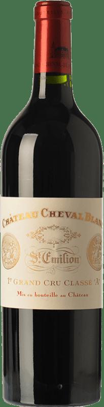 669,95 € Free Shipping | Red wine Château Cheval Blanc Reserva A.O.C. Saint-Émilion Grand Cru Bordeaux France Merlot, Cabernet Franc Bottle 75 cl