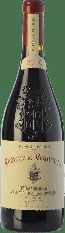 98,95 € Free Shipping | Red wine Château Beaucastel Rouge Crianza A.O.C. Châteauneuf-du-Pape Rhône France Syrah, Grenache, Mourvèdre, Cinsault, Counoise Bottle 75 cl