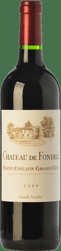 18,95 € Free Shipping | Red wine Château de Fonbel Crianza A.O.C. Saint-Émilion Grand Cru Bordeaux France Merlot, Cabernet Sauvignon, Petit Verdot, Carmenère Bottle 75 cl