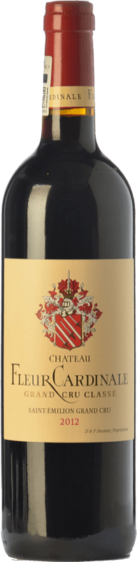 44,95 € Free Shipping | Red wine Château Fleur Cardinale Crianza A.O.C. Saint-Émilion Grand Cru Bordeaux France Merlot, Cabernet Sauvignon, Cabernet Franc Bottle 75 cl
