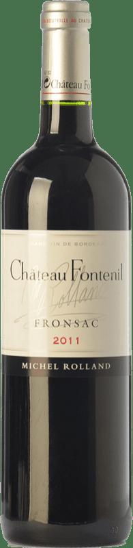 29,95 € Free Shipping | Red wine Château Fontenil Crianza A.O.C. Fronsac Bordeaux France Merlot, Cabernet Sauvignon Bottle 75 cl