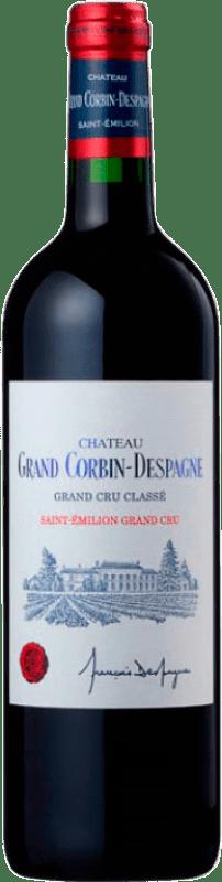 48,95 € Free Shipping | Red wine Château Grand Corbin-Despagne Crianza A.O.C. Saint-Émilion Grand Cru Bordeaux France Merlot, Cabernet Sauvignon, Cabernet Franc Bottle 75 cl