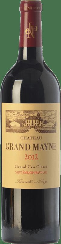 52,95 € Free Shipping | Red wine Château Grand Mayne Crianza A.O.C. Saint-Émilion Grand Cru Bordeaux France Merlot, Cabernet Sauvignon, Cabernet Franc Bottle 75 cl