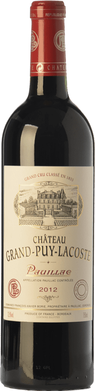 107,95 € | Red wine Château Grand-Puy-Lacoste Crianza A.O.C. Pauillac Bordeaux France Merlot, Cabernet Sauvignon Bottle 75 cl