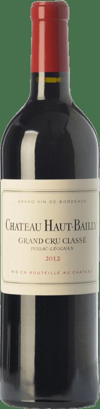 137,95 € Free Shipping | Red wine Château Haut-Bailly Crianza A.O.C. Pessac-Léognan Bordeaux France Merlot, Cabernet Sauvignon, Cabernet Franc Bottle 75 cl